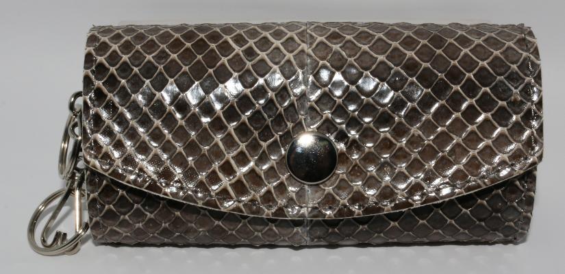 ウミヘビ革 キーケースの画像