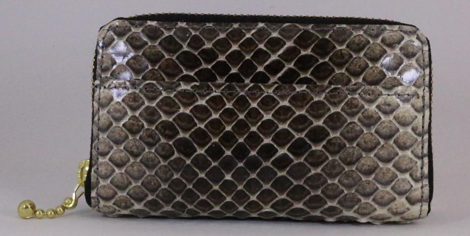 ウミヘビ革 小銭入れの画像