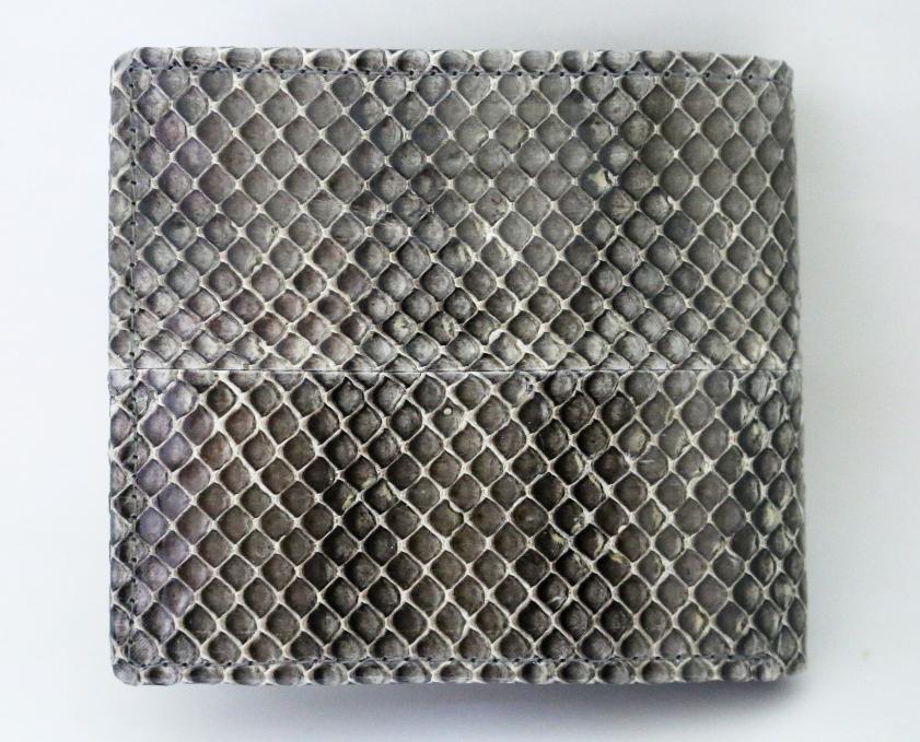 ウミヘビ革 2つ折り画像