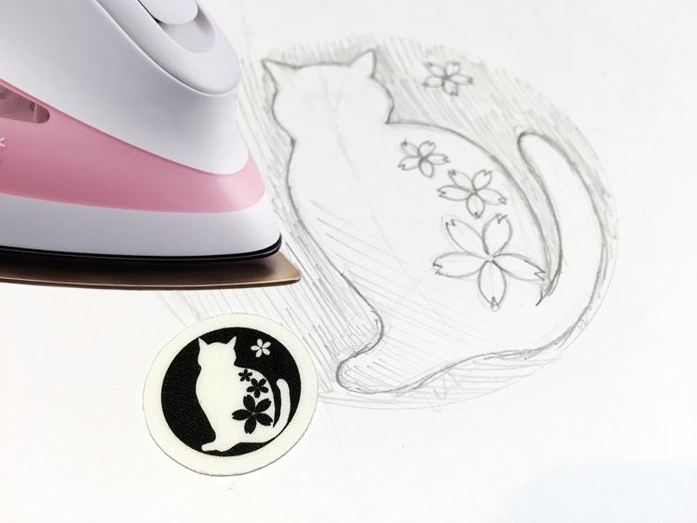 素案からデザインまで-あなただけのオリジナル貼り紋を作ります。アイロン定着 貼り紋[素材:綿100%]  【男性・女性・子ども用】 <がっちりアイロン定着タイプ> 6枚入り画像