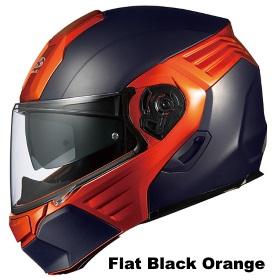 OGK KAZAMI フラットブラック オレンジの画像