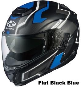 OGK IBUKI DARK フラットブラックブルーの画像