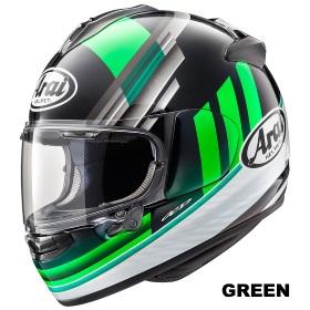 ARAI VECTOR-X GURAD 緑の画像