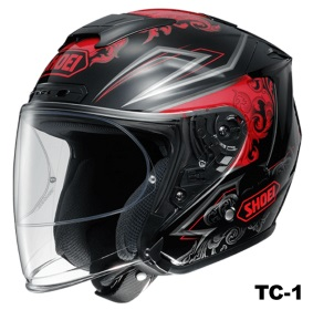 SHOEI J-FORCE 4 REFINADO TC-1の画像