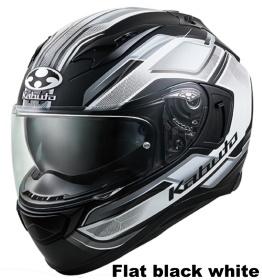 OGK KAMUI 3 ACCEL フラットブラックホワイトの画像