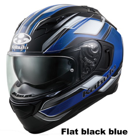 OGK KAMUI 3 ACCEL フラットブラックブルー画像