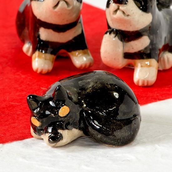 豆屋 箸置き(柴犬 黒 まんまる)の画像