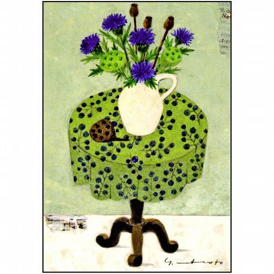 マツモトヨーコ ポストカード(アザミ)の画像