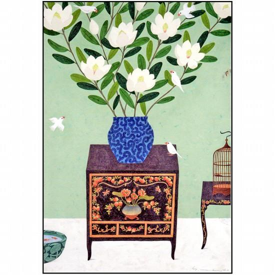 マツモトヨーコ ポストカード(タイサンボク)の画像