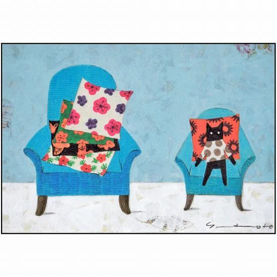 マツモトヨーコ ポストカード(椅子とクッション)の画像