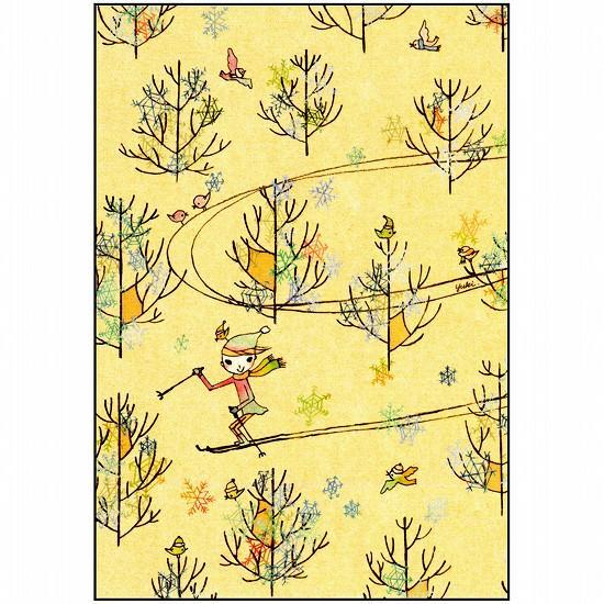 スニーフ ポストカード(スキー)の画像