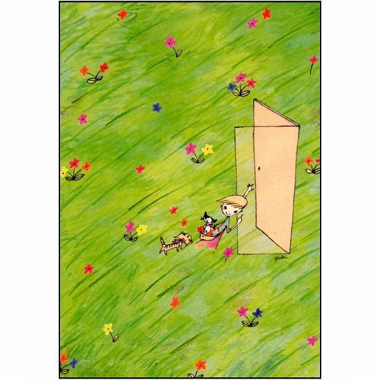 スニーフ ポストカード(草原のドア)の画像