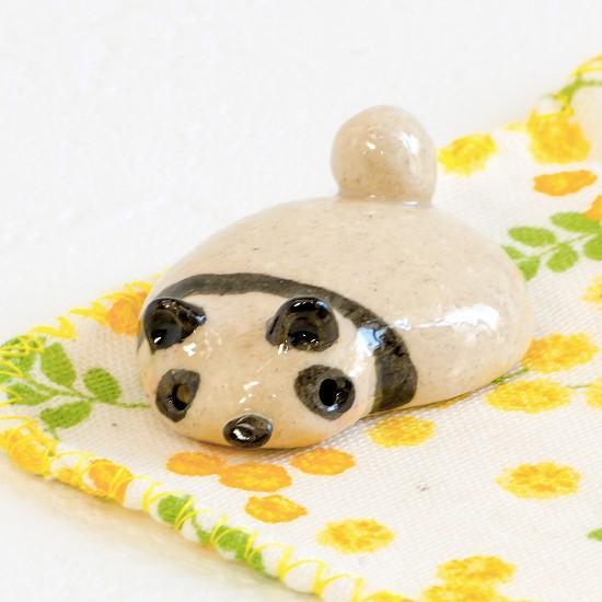 豆屋 箸置き(平たいパンダ)の画像