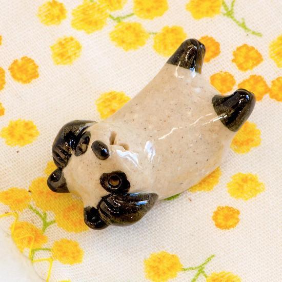 豆屋 箸置き(パンダ あおむけ 頭かかえ)の画像