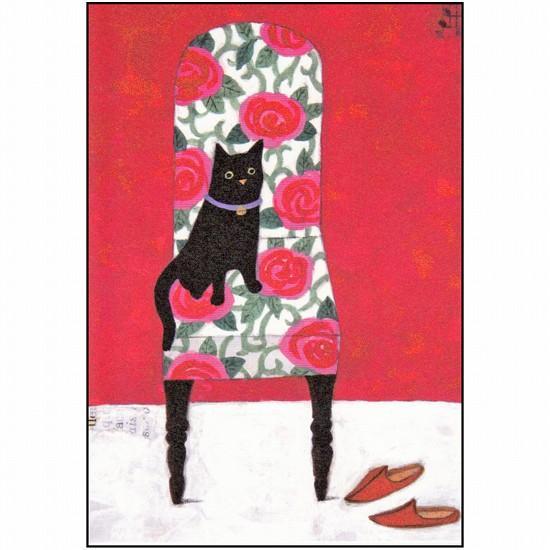 マツモトヨーコ ポストカード(黒猫)の画像