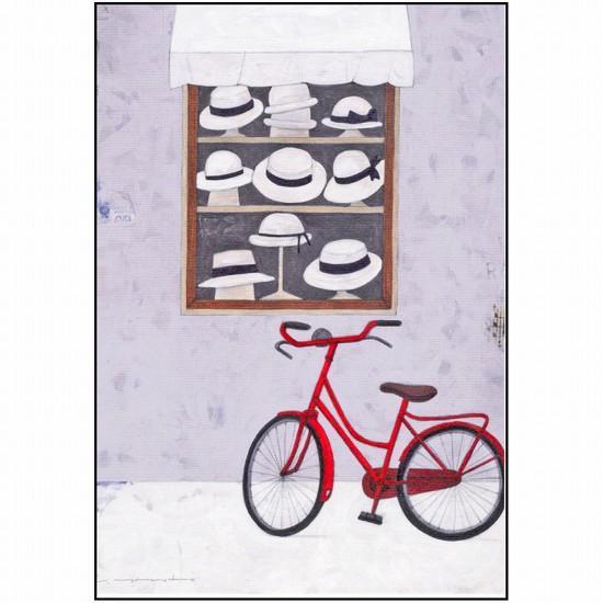 マツモトヨーコ ポストカード(白い帽子)の画像