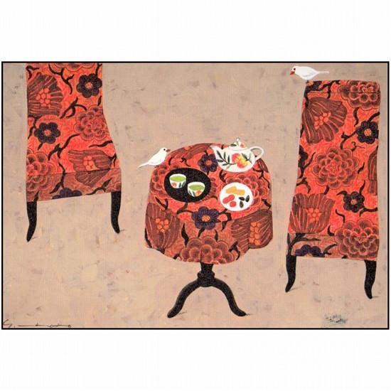 マツモトヨーコ ポストカード(白文鳥)の画像
