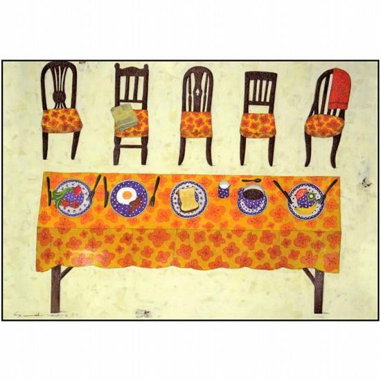 マツモトヨーコ ポストカード(それぞれの食卓)の画像