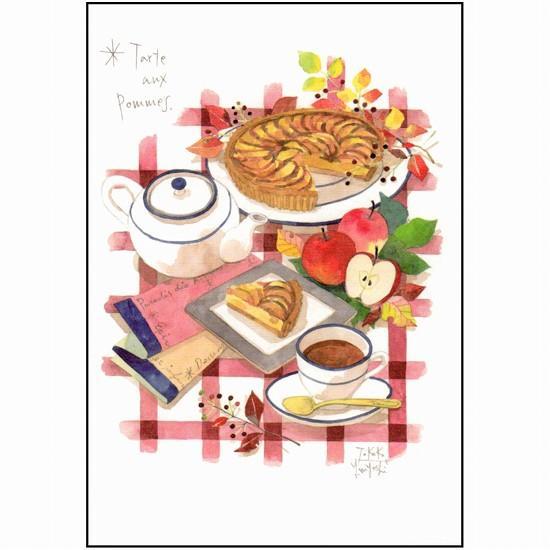 三好貴子 ポストカード(りんごのタルト)の画像
