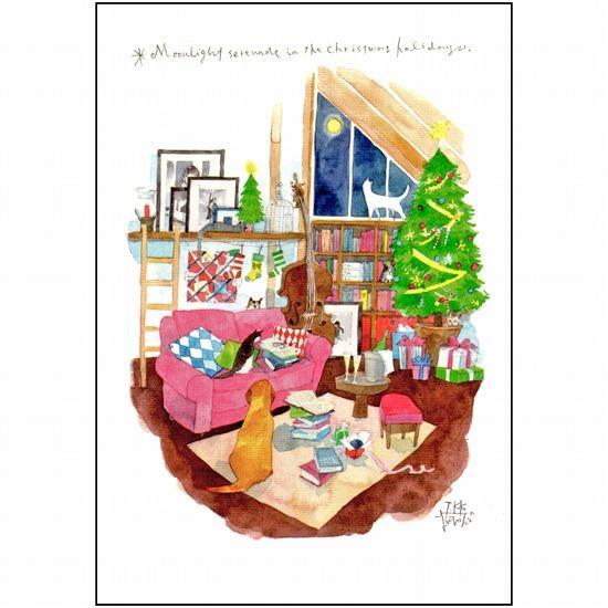 三好貴子 ポストカード(月光のクリスマス)の画像