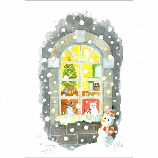 三好貴子 ポストカード(雪の夜)の画像