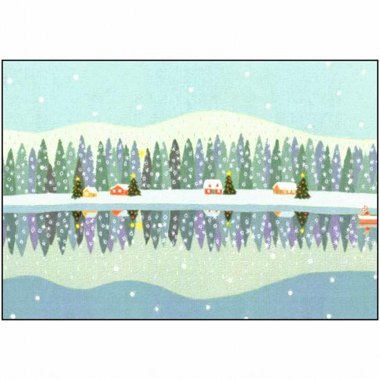 ひらいみも ポストカード(子ブタと逆さクリスマス)の画像