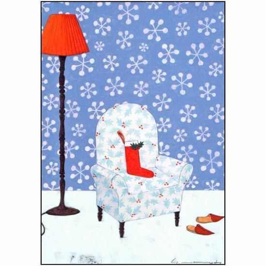 マツモトヨーコ ポストカード(雪の結晶)の画像