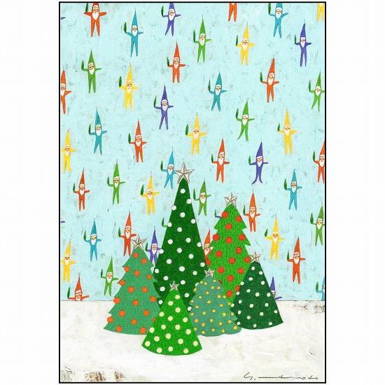 マツモトヨーコ ポストカード(クリスマスの小人)の画像