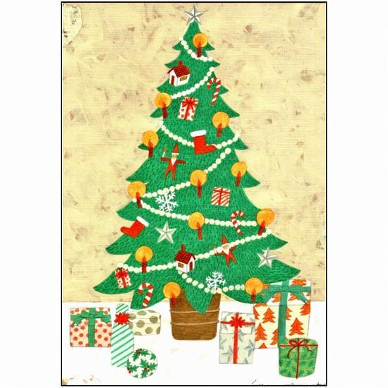 マツモトヨーコ ポストカード(クリスマスツリー)の画像