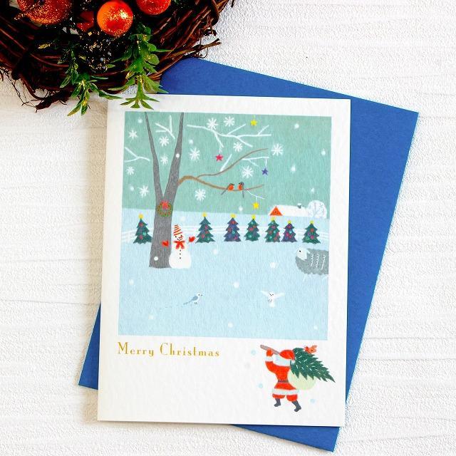 ひらいみも クリスマスカード(ツリーを飾ろう)の画像