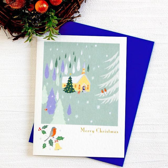 ひらいみも クリスマスカード(教会)の画像