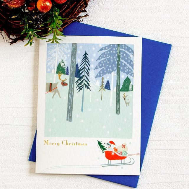 ひらいみも クリスマスカード(森のトナカイ)の画像
