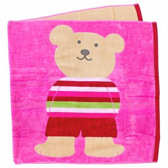 レインボーベア バスタオル(スタイル3)ピンクの画像