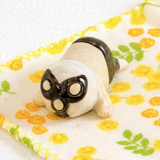 豆屋 箸置き(レスラー うつぶせ クロ)の画像
