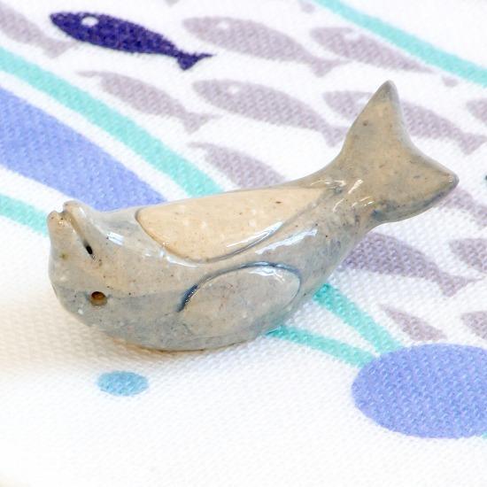 豆屋 箸置き(イルカ あおむけ)の画像