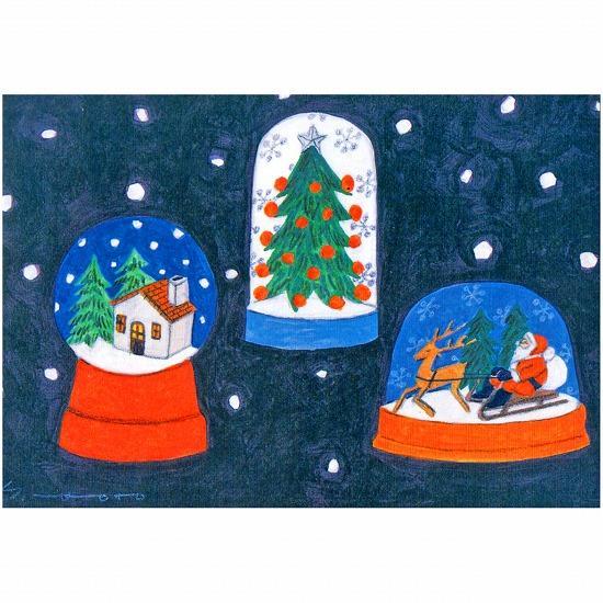 マツモトヨーコ ポストカード(スノードーム)の画像