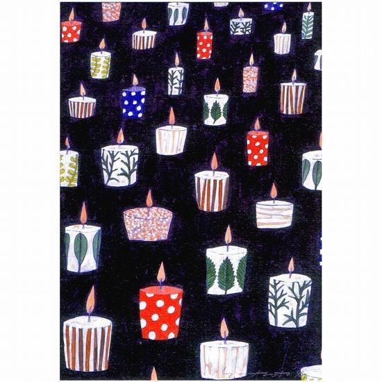 マツモトヨーコ ポストカード(それぞれのキャンドル)の画像