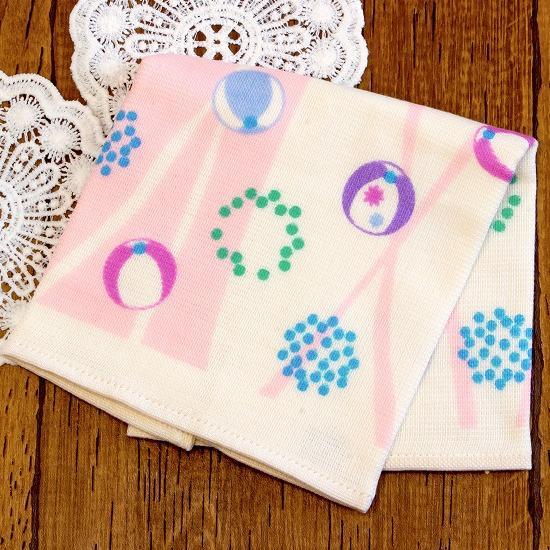 さいか ガーゼハンカチタオル(毬水玉)ピンクの画像