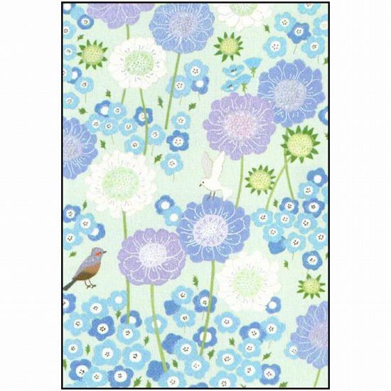 ひらいみも ポストカード(花風景:春の青)の画像