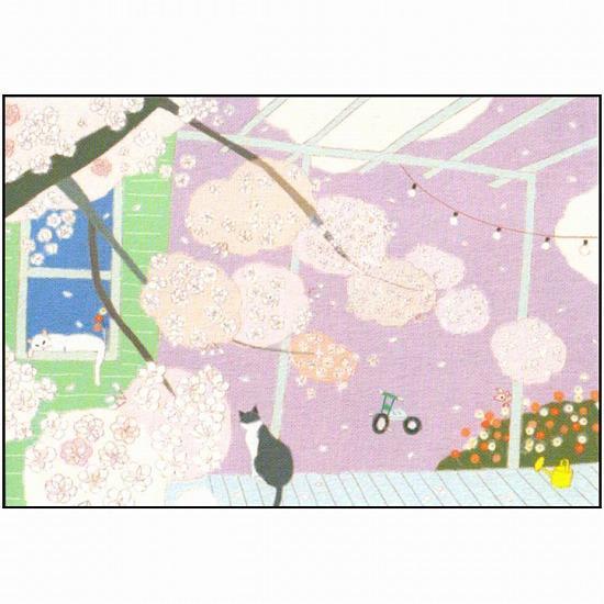 ひらいみも ポストカード(子ブタと徒桜)の画像
