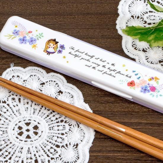英字フェアリーテイル 箸&ケース(アリス)の画像