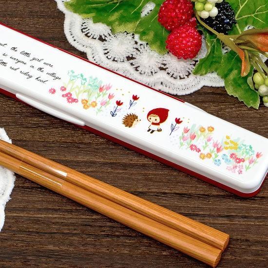 英字フェアリーテイル 箸&ケース(赤ずきん)の画像