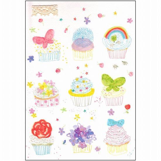 いわぶちさちこ ポストカード(カップケーキ)の画像