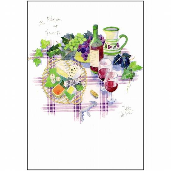 三好貴子 ポストカード(高原のワイン)の画像