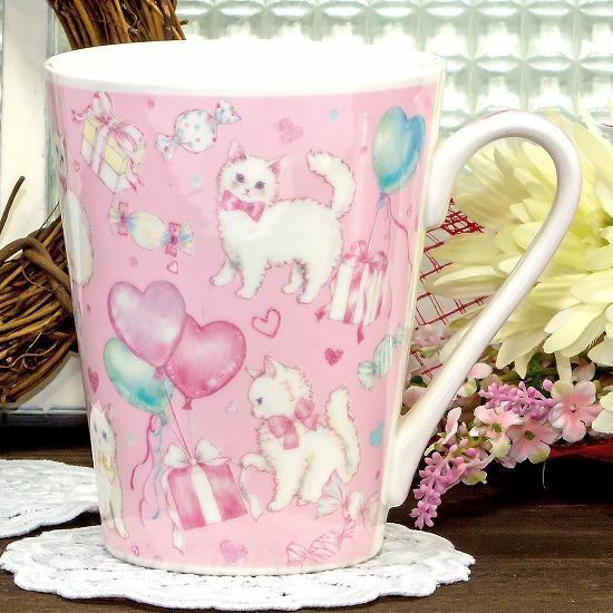 たけいみき マグカップ(キャットバルーン)画像