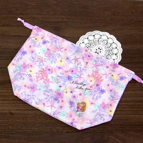 花フェアリーテイル ランチ巾着(人魚姫)画像