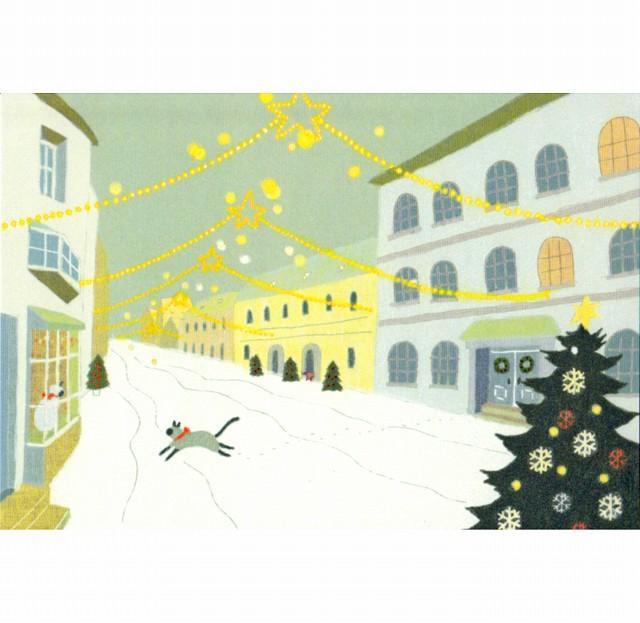ひらいみも ポストカード(子ブタとクリスマス星)の画像