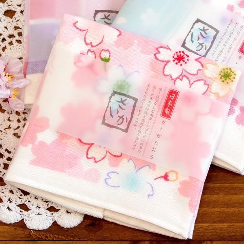 さいか ガーゼハンカチタオル(夢見桜)の画像
