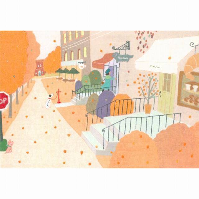 ひらいみも ポストカード(子ブタと秋のパリ)の画像