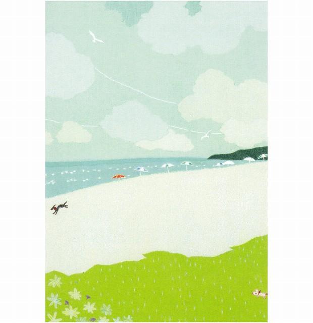 ひらいみも ポストカード(子ブタとビーチ)の画像